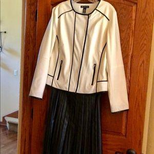 Alfani Black Faux Leather Skirt